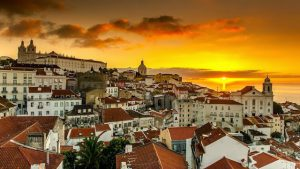 Vista de Lisboa al atardecer