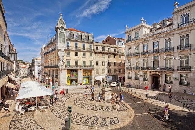 Bairro Chiado en Lisboa