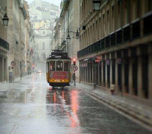 Lluvia en Lisboa