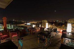Vista de un restaurante en Lisboa