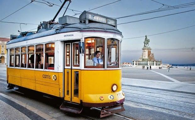 Trayecto del Tranvía 28 en Lisboa