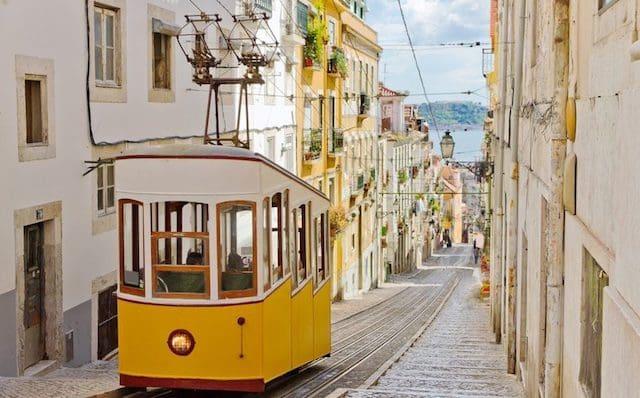 Ascensor da Glória en Lisboa