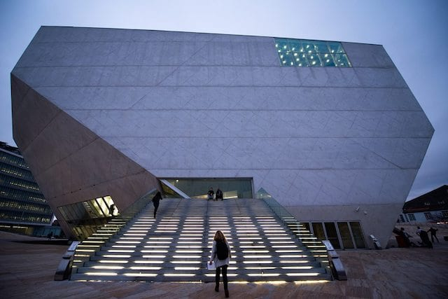 Entrada Casa de la Música en Oporto