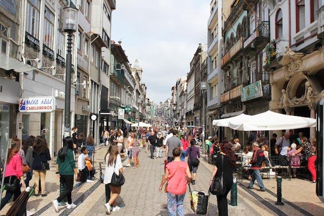 Calle Santa Catarina en Oporto