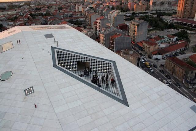 Terraza de la Casa de la Música en Oporto