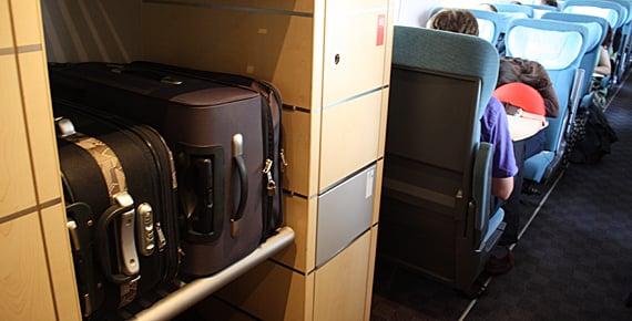 Lugar de las maletas en el tren