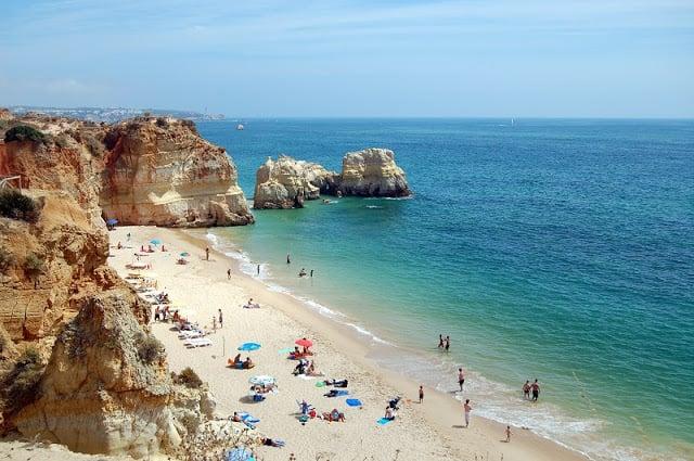 Praia da Rocha en Algarve
