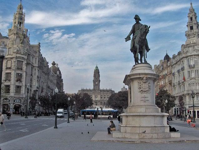 Avenida dos Aliados en Oporto
