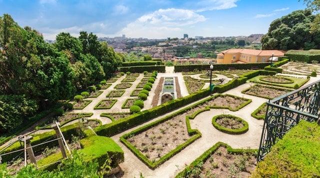 Jardín del Palacio de Cristal en Oporto