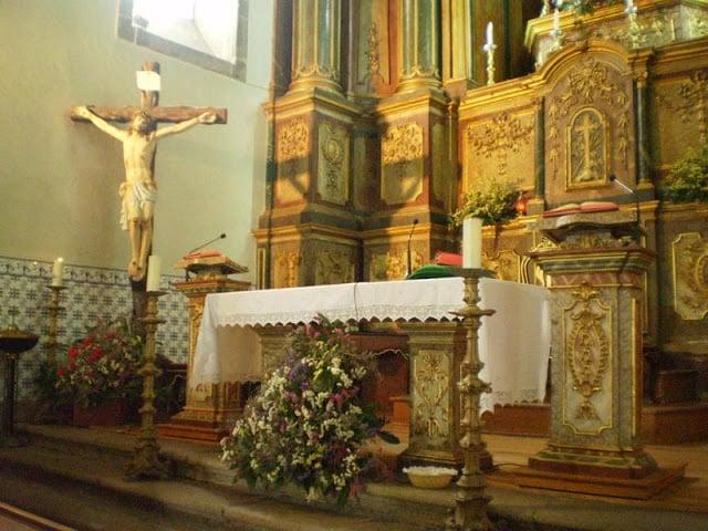 Altar de la Iglesia Nossa Senhora da Consolação en Guimarães