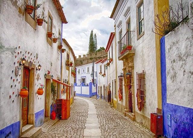 Calles y casas de Óbidos
