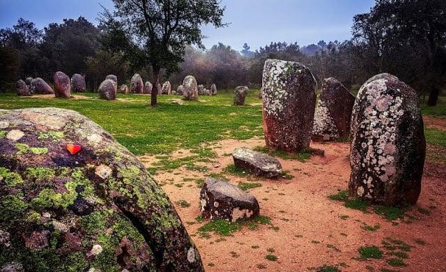 Cromlech de Almendres en Évora