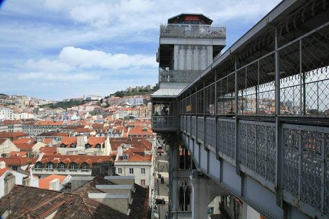 El elevador de Santa Justa en Lisboa